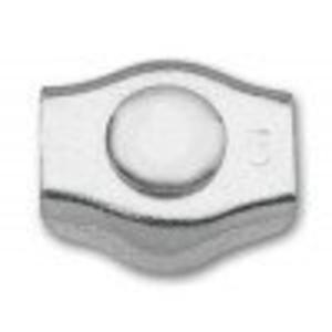 Robur 8317SZ/2 Zacisk linowy siodełkowy pojedynczy ocynkowany 2mm - 1633249423