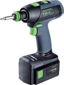 Festool Akumulatorowe wiertarko-wkrętarki T 12+3 GG/LI - 1633249622