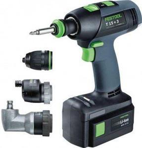 Festool Akumulatorowe wiertarko-wkrętarki T 15+3 Li 2,6 Set - 1633249627