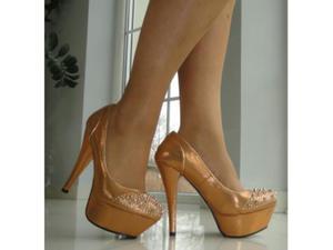 8e073ea6846a3 Outlet szpilki buty brokatowe złote kolce ćwieki : Rozmiar Buta - 35 -  2823443200
