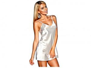 Koszulka halka nocka satynowa Ibiza ecru : Rozmiar Bielizny - L - 2823441811