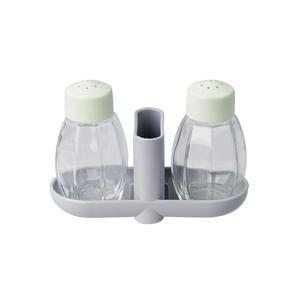Zestaw solniczka pieprzniczka i pojemnik na wyka - 2862568244