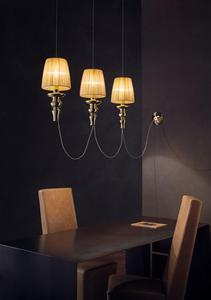 Lampa wisząca Evi Style GADORA CHIC SO3 - chrom-szary - 2849752852