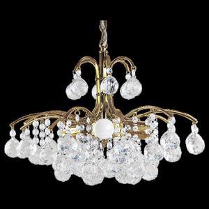 Lampa Wisząca kryształowa Elem 6247/3 TR Monte Carlo złota - 2849766384