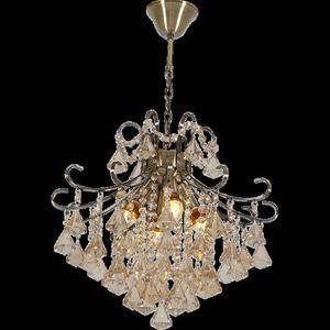 Lampa Wisząca kryształowa Elem Barcelona 6248/4 21QG mosiądz - 2849766392