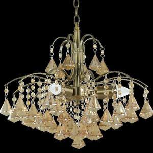 Lampa Wisząca kryształowa Elem Monte Carlo 6246/3 21QG mosiądz - 2849766395