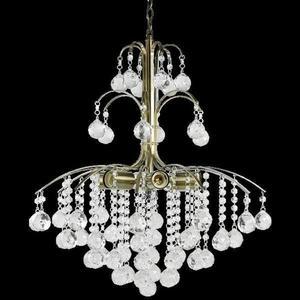 Lampa Wisząca kryształowa Elem Monte Carlo 6247/6 21QG mosiądz - 2849766396