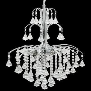 Lampa Wisząca kryształowa Elem Monte Carlo 6246/6 8C chrom - 2849771387