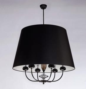 Lampa Wisząca Kutek Mood Narni NAR-ZW-6(CC) - Chrom || Czarny - 2858396845