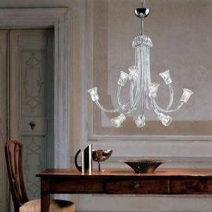 Żyrandol Leucos Art. 599 L 9 kryształowy - 2849734132
