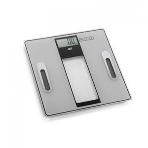 Tabea - waga łazienkowa z analizą masy ciała, do 180 kg, 30×30 cm, metaliczna ADE - 2879944260