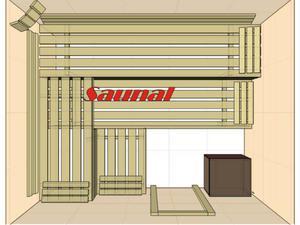 Kabina sauny fińskiej (SGW) 250x200x200 - 2823012232