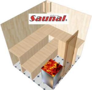 Kabina sauny fińskiej (SGW) 220x200x200 z piecem - 2823012333