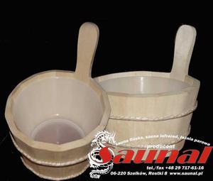 """Cebrzyk do sauny """"Marmu""""z plastikowym wkładem. - 2823012141"""