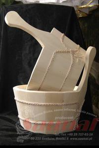 """Cebrzyk do sauny """"LUX z plastikowym wkładem. - 2823012507"""