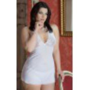 Marylin - Plus Size - white 1017 koszulka i stringi - 2644412847