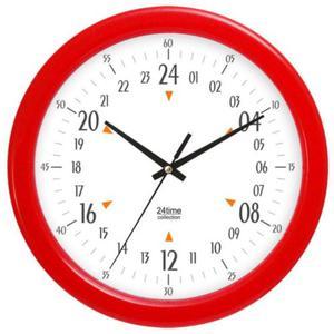 Zegar naścienny kolorowy 24-godzinny - 2827615183