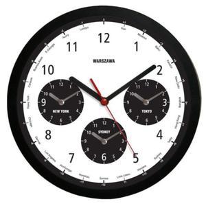 Zegar naścienny solid Strefy Czasowe - 2827615186