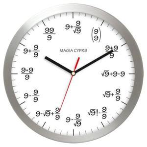 Zegar aluminiowy matma magia cyfry 9 - 2827615085