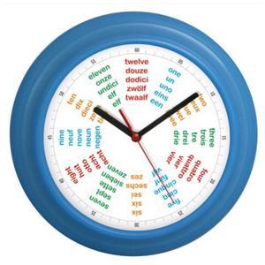 Zegar kolorowy języki świata POLIGLOTA - 2827615191