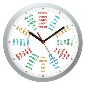 Zegar naścienny języki świata POLIGLOTA - 2827615193