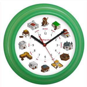 Zegar kolorowy języki świata Dawne Budowy - 2827615194