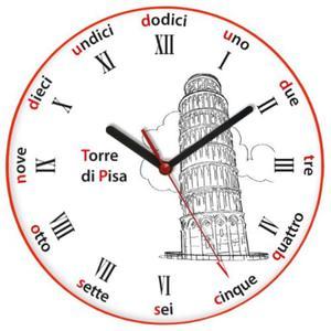 Zegar języki świata KRZYWA WIEŻA - 2827615196