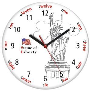 Zegar języki świata STATUA WOLNOŚCI - 2827615197