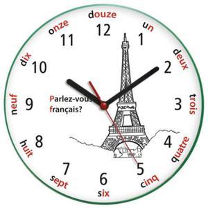 Zegar języki świata WIEŻA EIFFLA - 2827615198