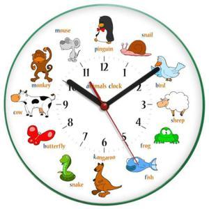 Zegar ścienny zwierzaczki ANIMALS - 2827615200