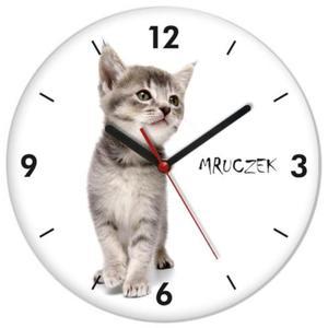 Zegar ścienny z kotkiem MRUCZEK - 2827615201