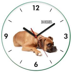 Zegar ścienny z psem BOKSER - 2827615202