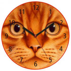 Zegar ścienny z kotkiem MORDKA - 2827615206