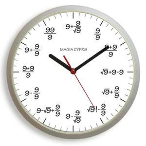 Zegar ścienny matma magia cyfry 9 #W - 2827615088