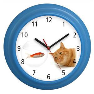 Zegar naścienny kolorowy Kotek #1 - 2827615230