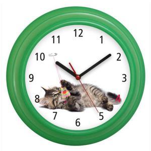 Zegar naścienny kolorowy Kotek #3 - 2827615232
