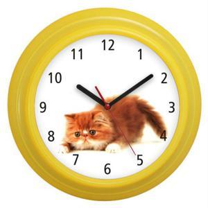 Zegar naścienny kolorowy Kotek #4 - 2827615233