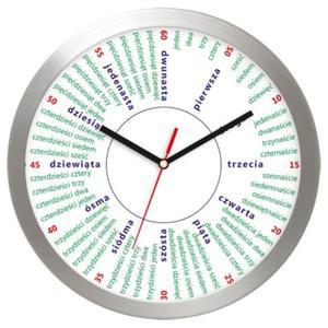 Zegar aluminiowy edukacyjny Liczydło - 2827615250