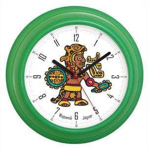Zegar ścienny falisty aztecki wojownik - 2827615251