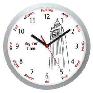 Zegar naścienny języki świata BIG BEN - 2827615093