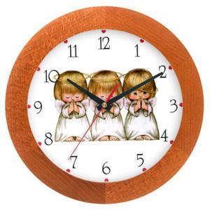 Zegar drewniany solid Aniołki - 2827615253