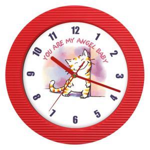 Zegar naścienny falisty Zalotny kotek - 2827615257