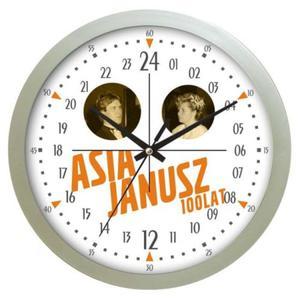 Zegar z autorską tarczą 24H srebrny - 2827615094