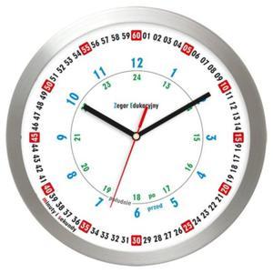 Zegar aluminiowy ścienny Edukacyjny - 2827615262