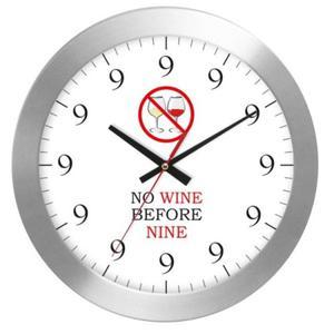 Zegar naścienny aluminium NO WINE - 2827615272