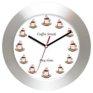 Zegar ścienny aluminiowy COFFEE TIME - 2827615273