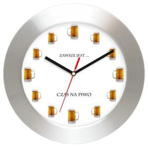 Zegar naścienny aluminium Czas na Piwo - 2827615274