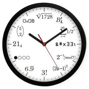 Zegar naścienny #2W kocham matmę - 2827615276