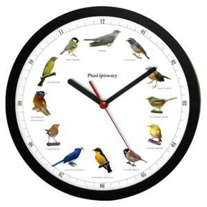 Zegar ścienny solid z głosami 12 ptaków #1 - 2827615096