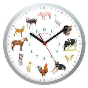 Zegar ścienny solid z głosami 12 zwierząt #1 - 2827615097